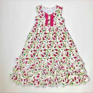 Other - NWT. Floral Cotton Ruffle Hem Toddler Maxi Dress.